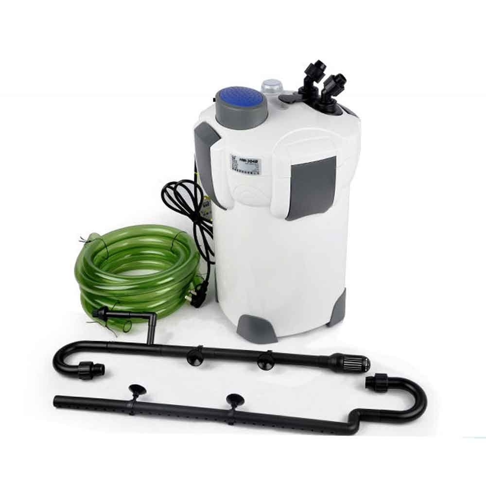 200 Gallon Filter Aquarium Tank Fish Canister 9 W Sterilizer