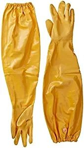 """Atlas 772 Extra Large Nitrile Chemical Resistant Gloves, 25"""", Yellow, 1-Pair"""